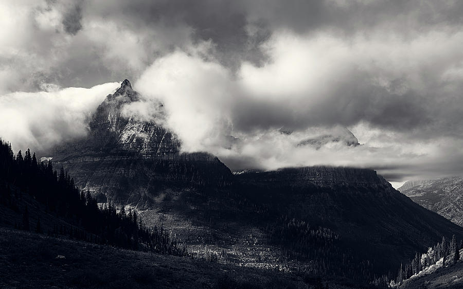Mount Oberlin Cloaked in Clouds by John Hight