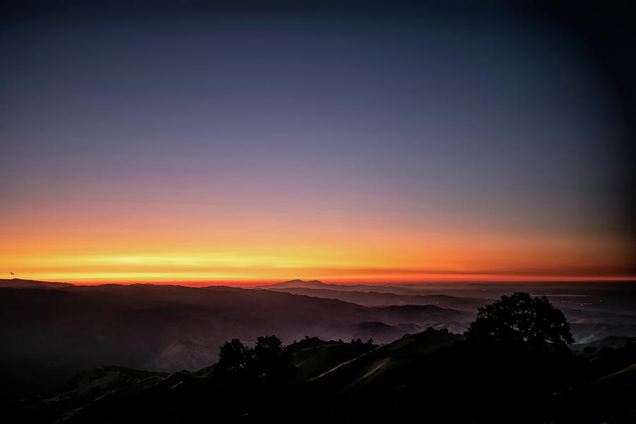 Mount Oso and Mount Diablo Sunset by Mike Gifford