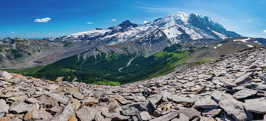 Mount Rainier from Burroughs Mountain 2 by Pelo Blanco Photo