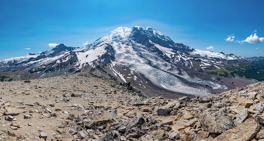 Mount Rainier from Burroughs Mountain 3 by Pelo Blanco Photo