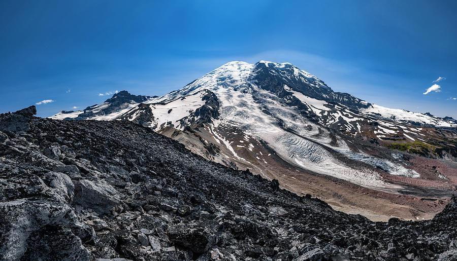 Mount Rainier from Burroughs Mountain 4 by Pelo Blanco Photo