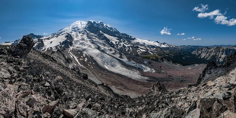 Mount Rainier from Burroughs Mountain 5 by Pelo Blanco Photo
