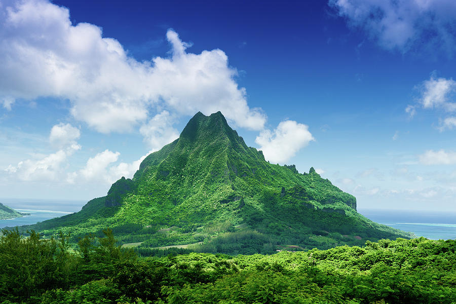 Mount Roto Nui Volcanic Mountain Moorea Photograph by Mlenny