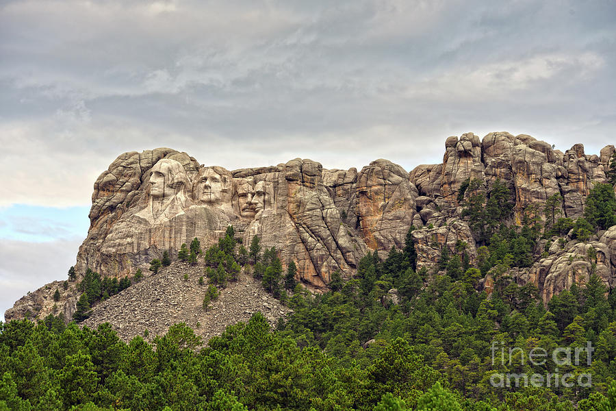 Mount Rushmore Panorama By Catherine Sherman Photograph
