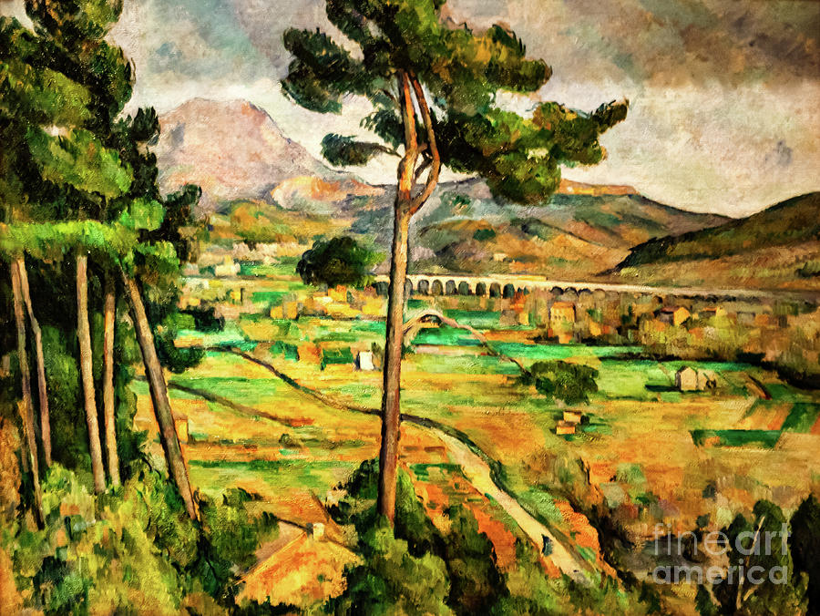 Mount Saint-Victoire and the Viaduct of the Arc River Valley by Paul Cezanne