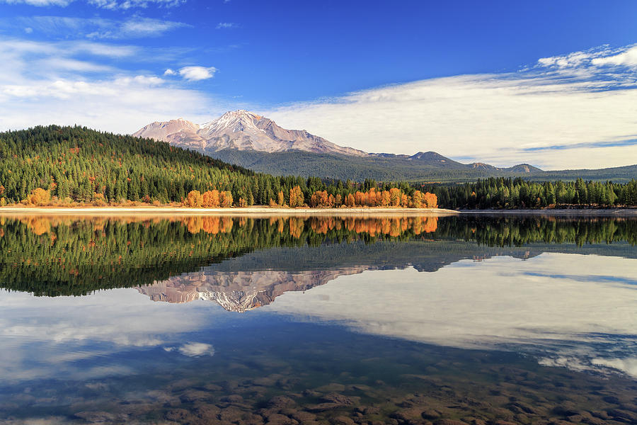 Mount Shasta From Lake Siskiyou by James Eddy