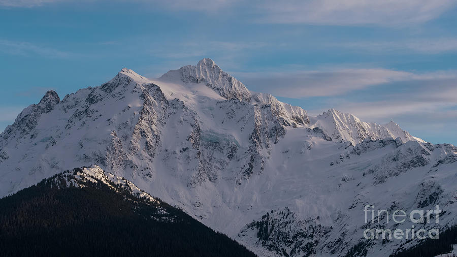 Moon Photograph - Mount Shuksan Aerial North Face by Mike Reid