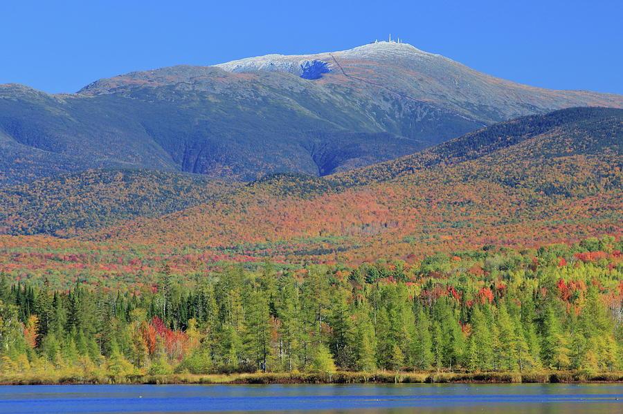Mount Washington Snow Foliage by John Burk