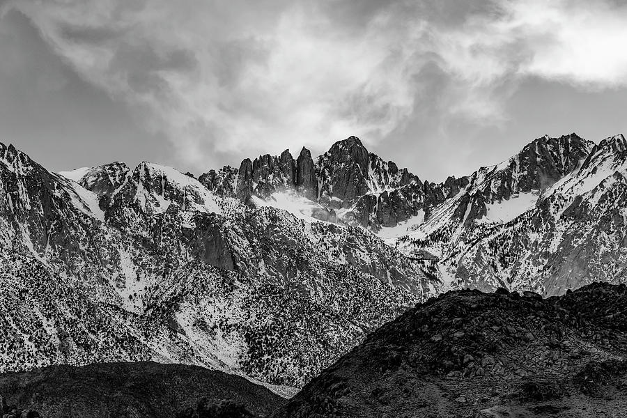 Mount Whitney in Black and White by Don Hoekwater Photography