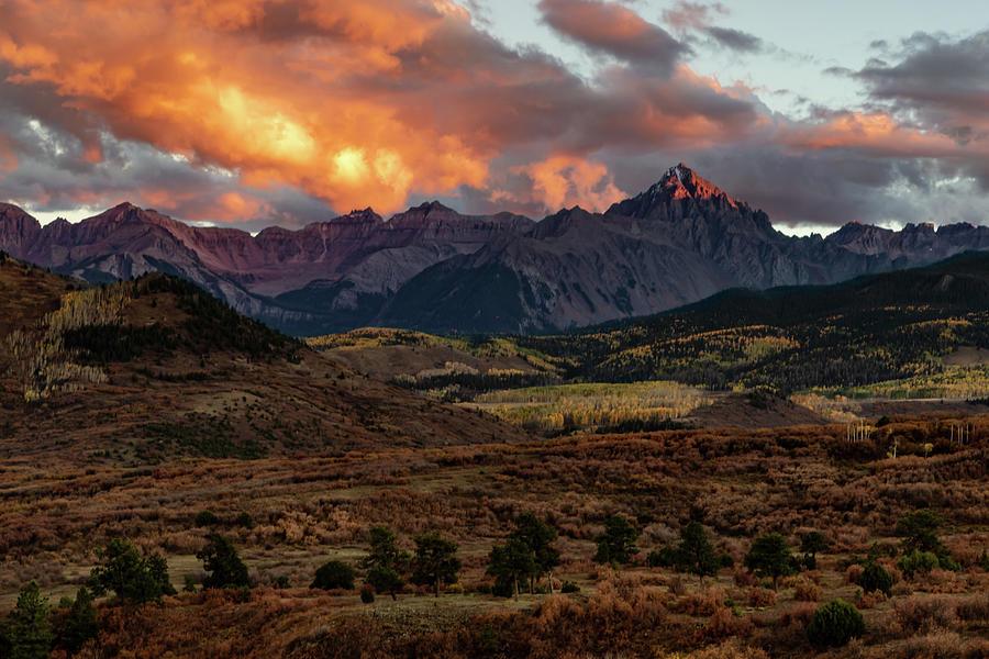 Mount Sneffels Sunset Highlights Photograph