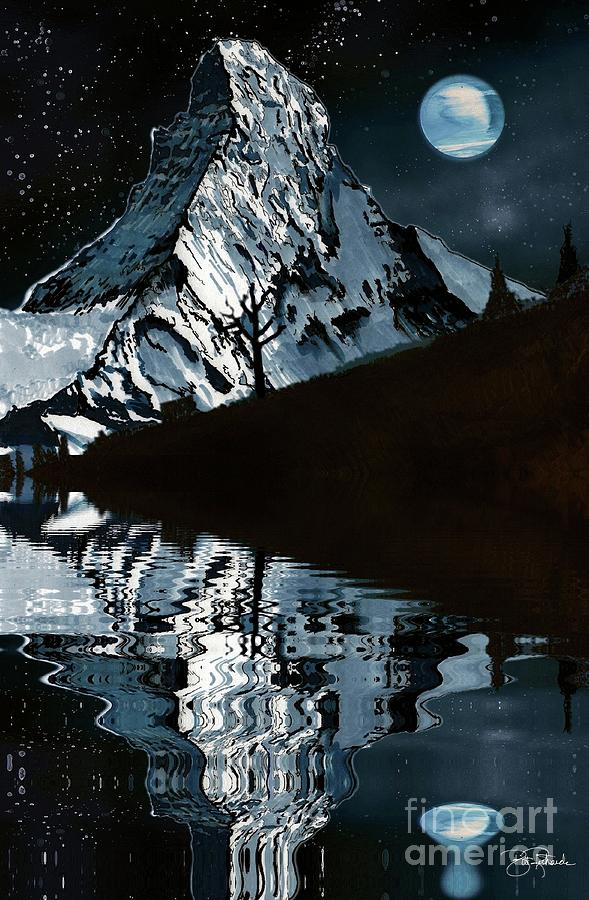 Mountain at night by Bill Richards