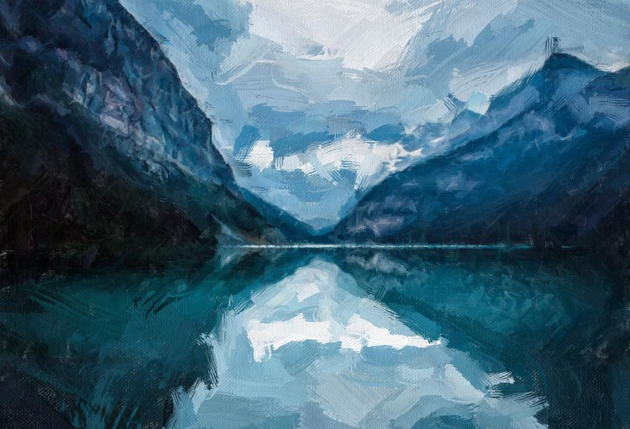 Mountain Blues by Painterly Images