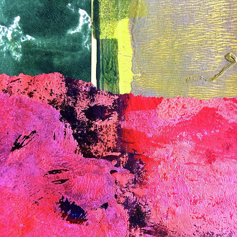 Mountain Climbing Abstract by Nancy Merkle