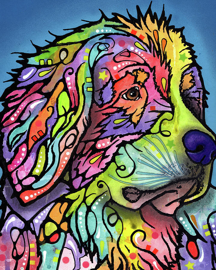 Mountain Dog Mixed Media - Mountain Dog by Dean Russo