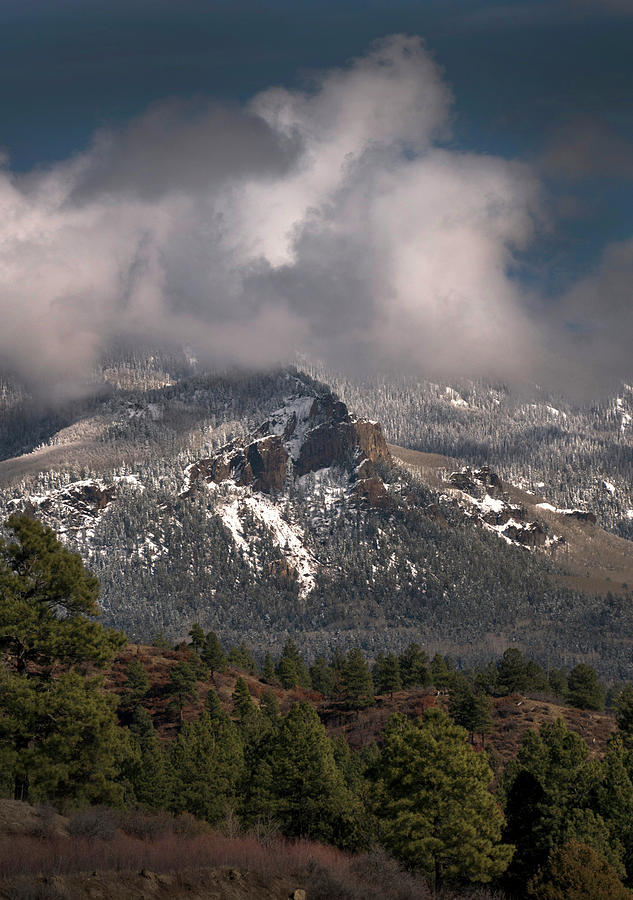 Mountain Snow Photograph - Mountain Dusting by Mark Langford