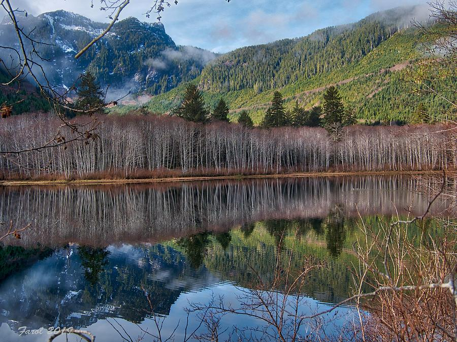 Mountain Lake Reflections by Farol Tomson