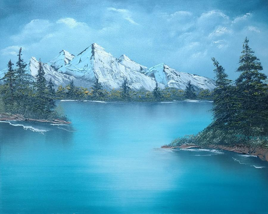 Mountains Painting - Mountain Lake  by Theodore Brooks