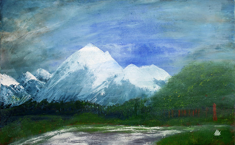 Mountain Landscape by Mel Beasley