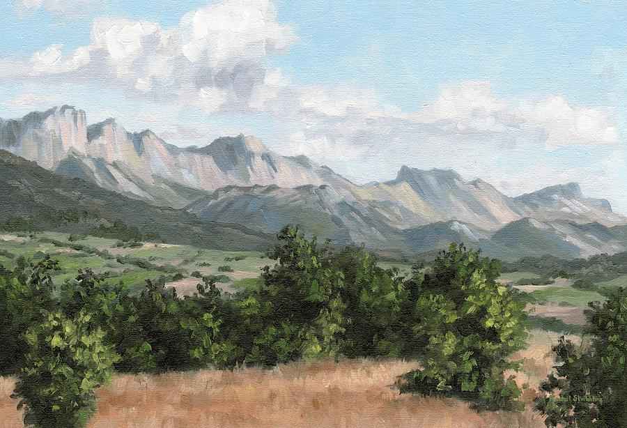Mountain Landscape Painting by Rachel Stribbling