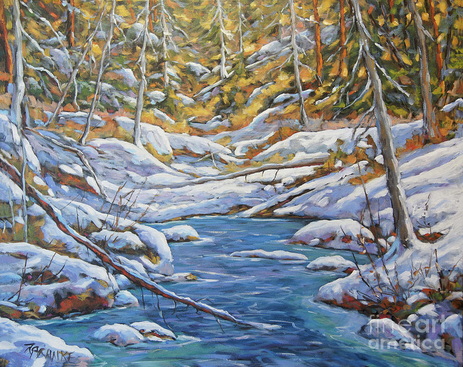 Mountain Landscape Winter by Richard Pranke by Richard T Pranke