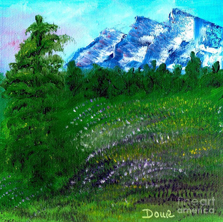 Landscape Painting - Mountain Meadow by Joanne Dour