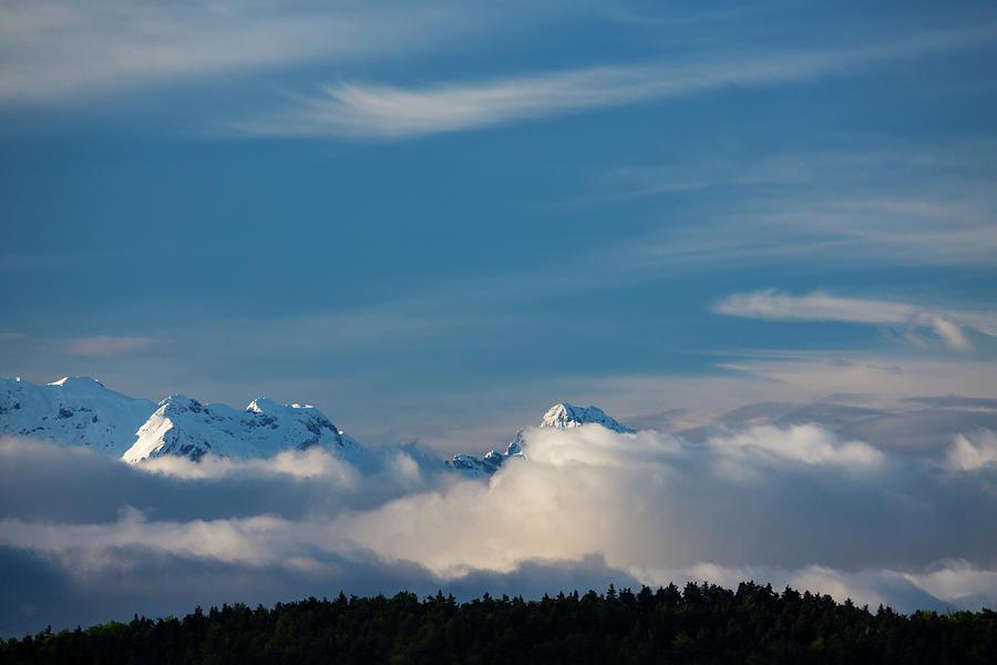 Mountain peak, Kamnik Alps, Slovenia. by Ian Middleton
