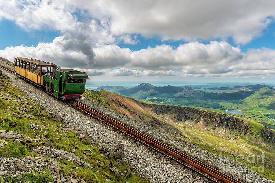 Mountain Railway Snowdonia by Adrian Evans