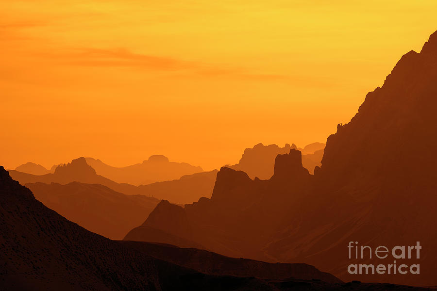 Mountain Ranges in the Dolomites by Arterra Picture Library