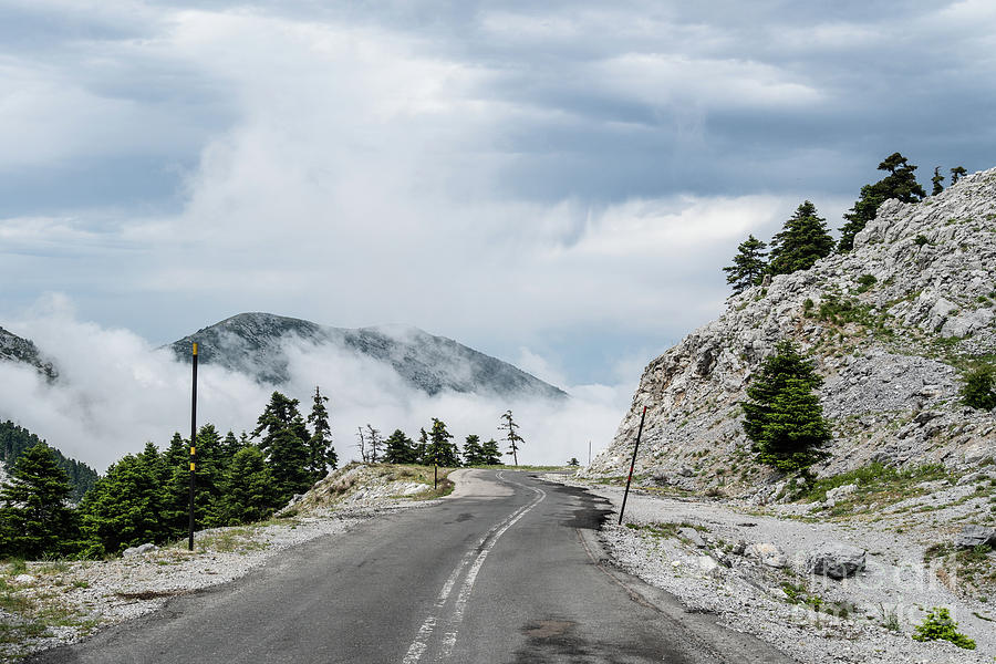 Mountain road in Greece by Didier Marti