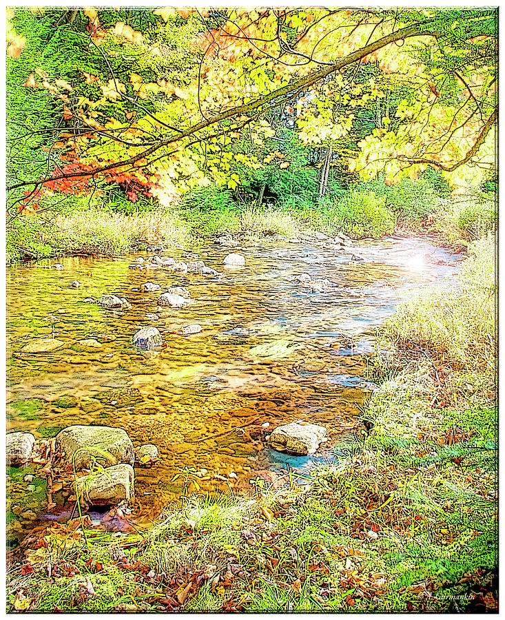Mountain Stream, Autumn, Poster Image by A Gurmankin