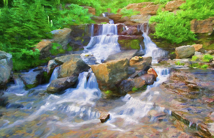 Mountain Stream Glacier National Park 102  by Rich Franco