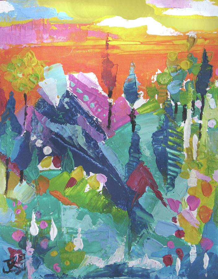 Mountain Sunrise by Jean Batzell Fitzgerald