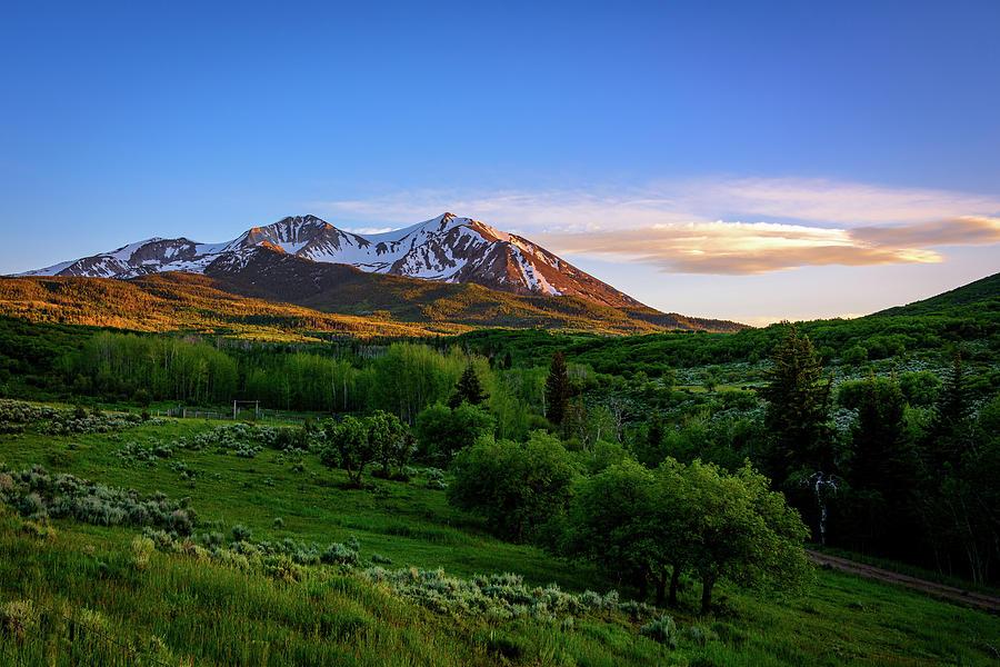 Mountain Sunset by John Wilkinson