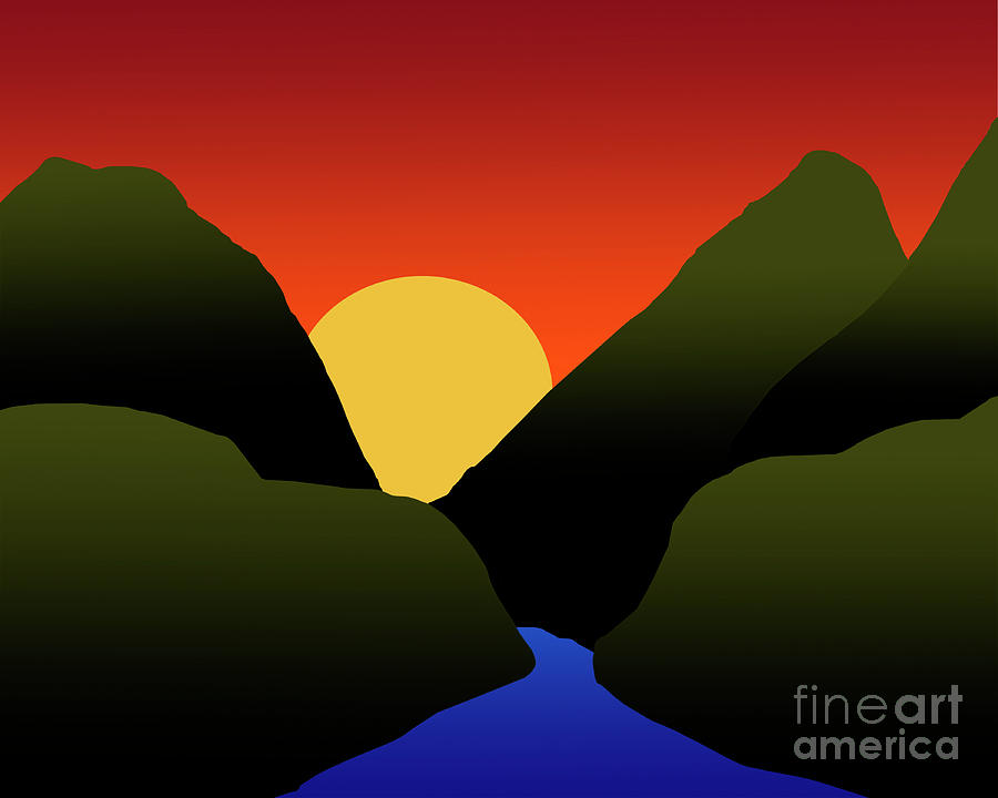 Mountain Sunset by Kirt Tisdale