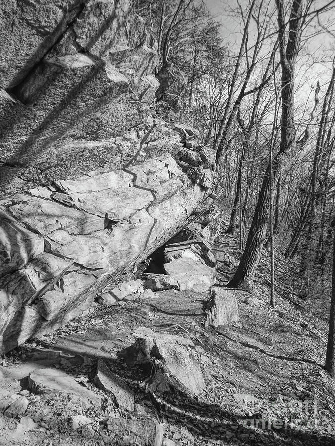 Black And White Photograph - Mountain Trail by Phil Perkins