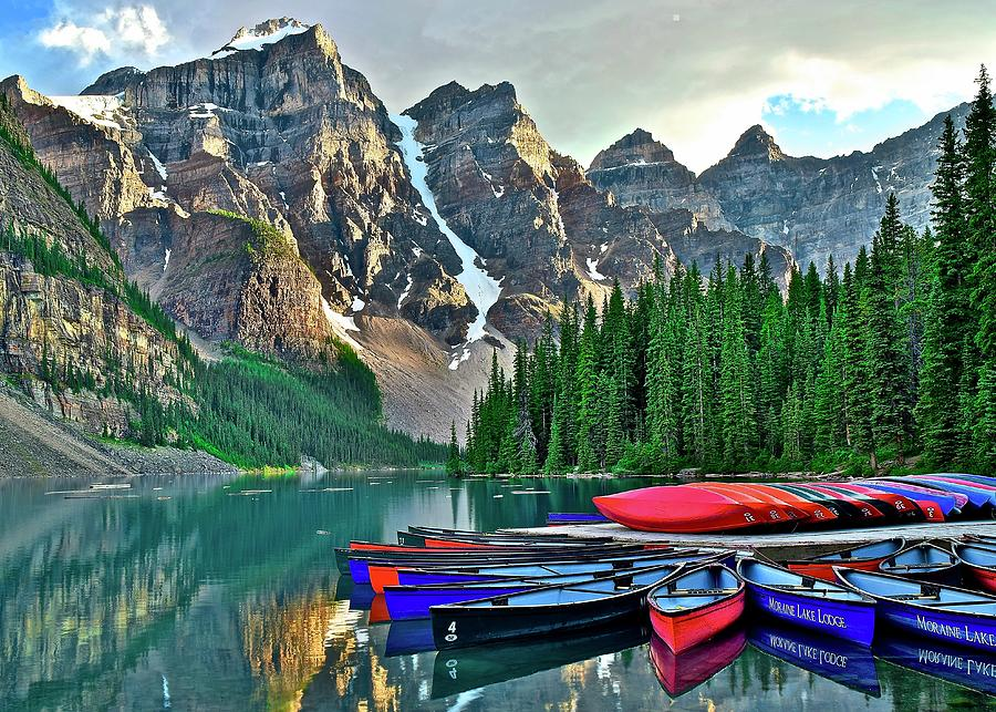 Lake Photograph - Mountain Tranquility by Frozen in Time Fine Art Photography