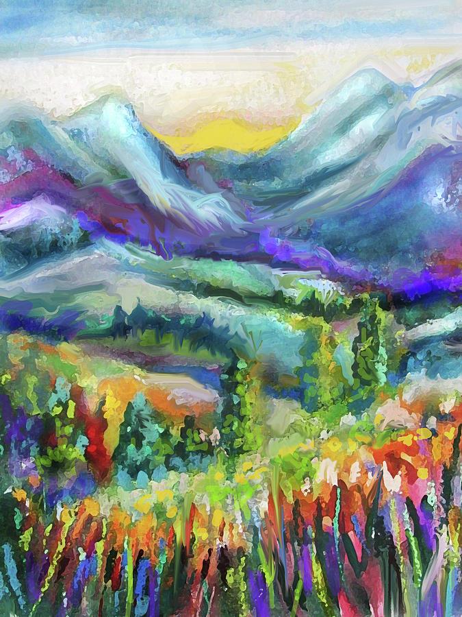 Mountain Valley Flowers by Jean Batzell Fitzgerald