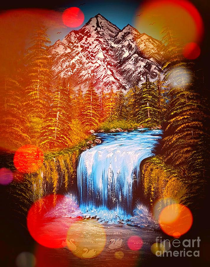 Mountain Views Stardust Glow Painting