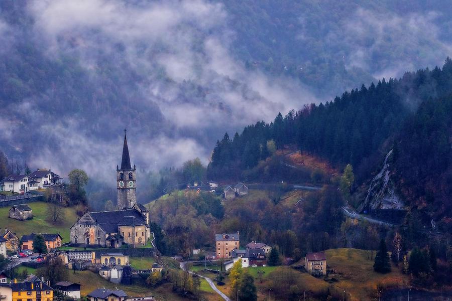 Mountain village by Roberto Pagani