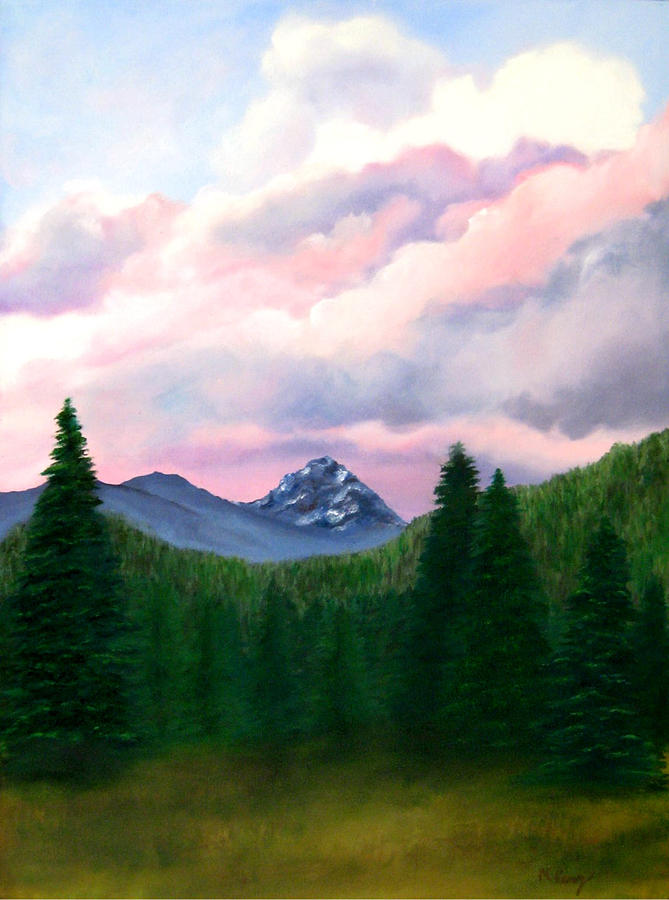 Nature Painting - Mountain And Sky by Melissa Joyfully