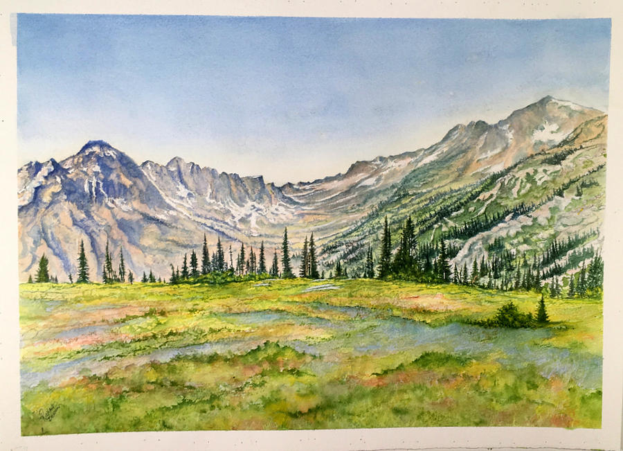 Mountains and Trees  by Richard Benson