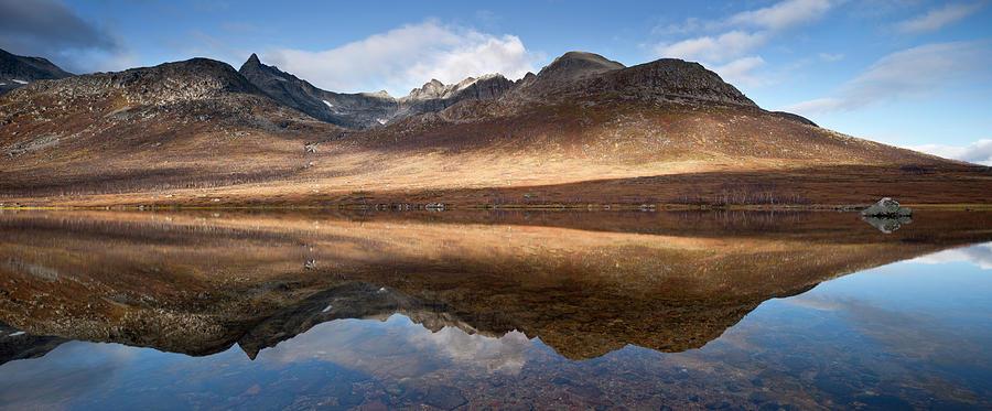 Mountains At  Kattfjord, Near Tromso Photograph by David Clapp