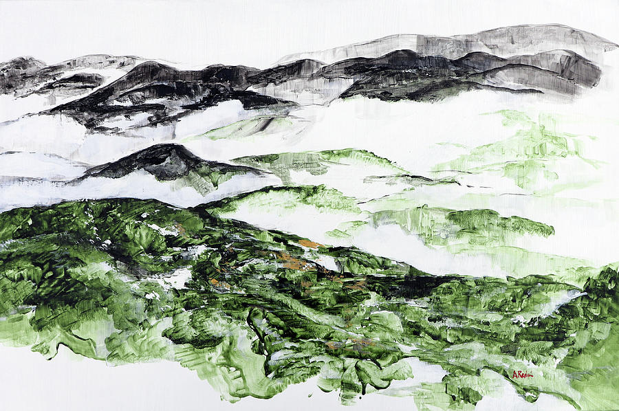 Shenandoah Painting - Mountains At Shenadoah 2 201901 by Alyse Radenovic