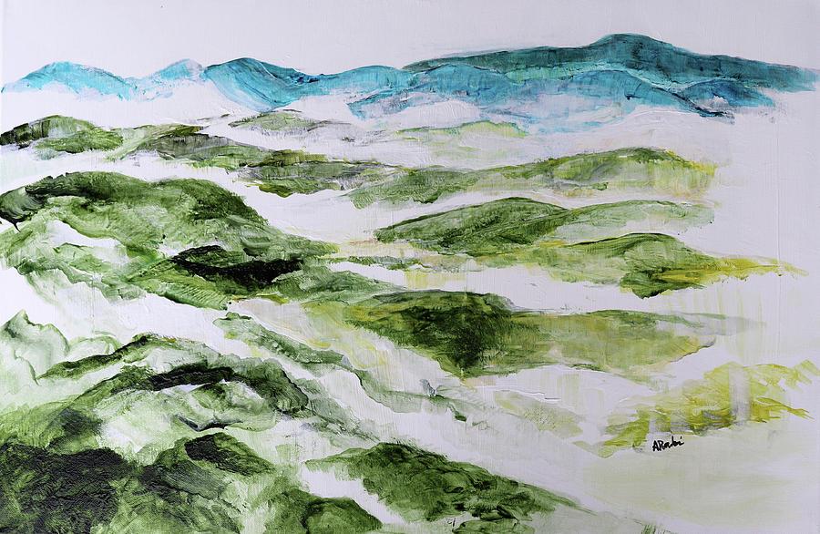 Mountains Painting - Mountains At Shenandoah 201849 by Alyse Radenovic