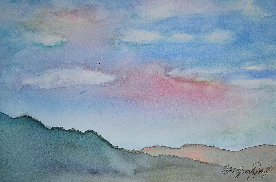 In the Clouds Painting by Debra Grantz Wolf