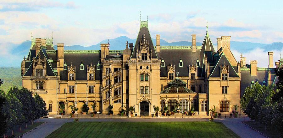 Mountains In The Shadow Of The Biltmore House  by Carol Montoya