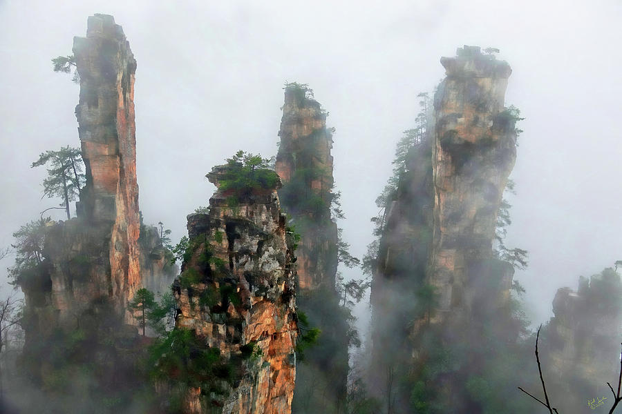 Zhangjiajie Photograph - Mountains In The Sky by Rick Lawler