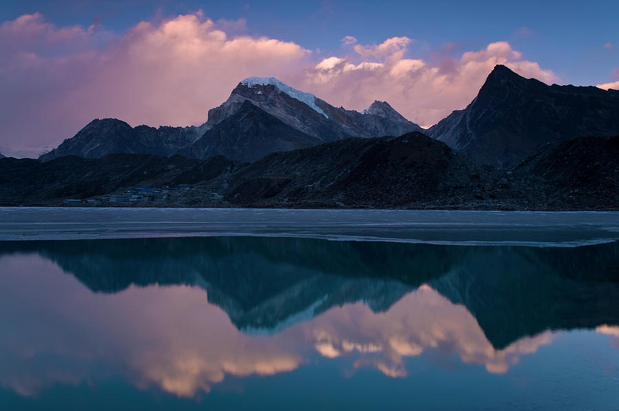 Tranquility Photograph - Mountains Reflected In Still Rural Lake by Cultura Exclusive/ben Pipe Photography