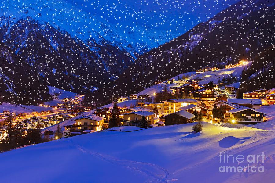 Magic Photograph - Mountains Ski Resort Solden Austria - by Tatiana Popova