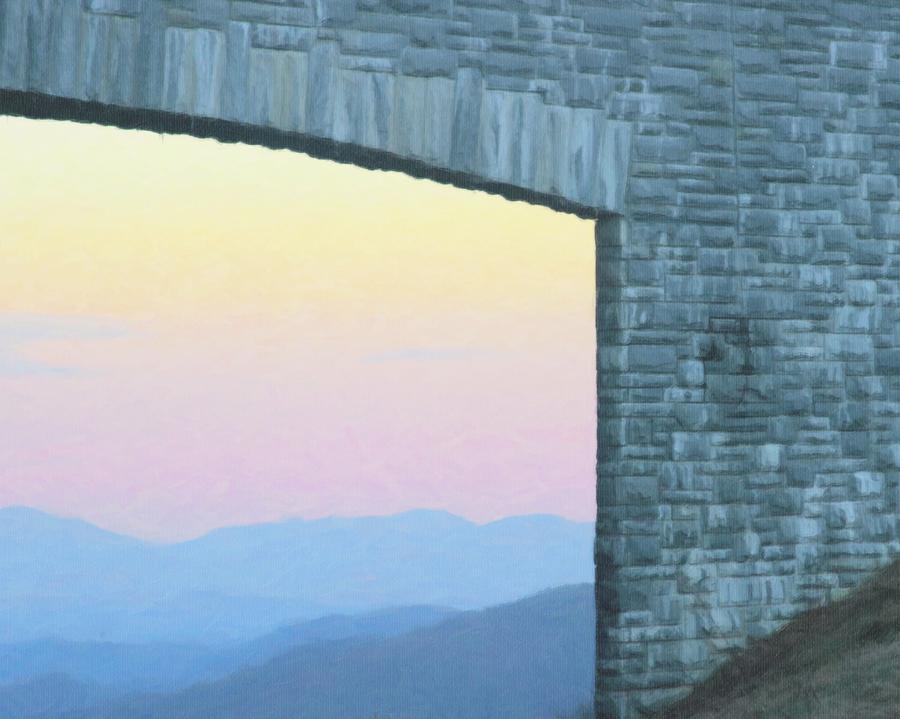 Mountains Through The Parkway Bridge 7 Photograph